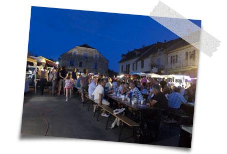 visitez le marché nocture de Najac