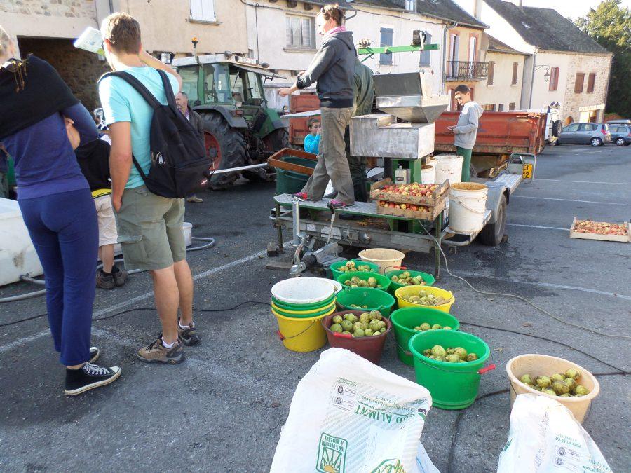 pressage de pommes à Najac